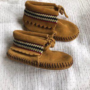 Minnetonka Baby Moccasin Braid Bootie